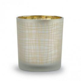 Świecznik tealight szklany SZRON SZARY 8 cm