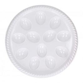 Talerz na jajka plastikowy WHITE 26,5 cm