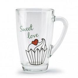 Kubek szklany / Szklanka FLORINA SWEET LOVE 350 ml