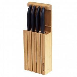 Noże kuchenne ceramiczne w bloku KYOCERA FK WHITE CZARNE 4 szt.
