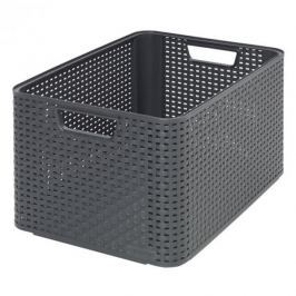 Koszyk plastikowy CURVER STYLE L GRAFITOWY