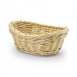 Koszyk na chleb i pieczywo plastikowy WICKER BEŻOWY 19 x 13,5 cm
