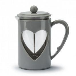 French press / Zaparzacz do kawy tłokowy szklany LOVELY SZARY 0,8 l