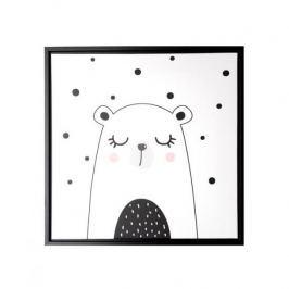 Obraz na płótnie MONDEX WHITE BEAR BIAŁY 35 x 35 cm