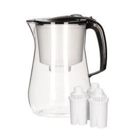 Dzbanek do filtrowania wody plastikowy AQUAPHOR ROUND CZARNY 4,2 l