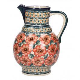 Dzbanek ceramiczny na wodę GU-40 DEK. 124 ART. Bolesławiec 1,8 l