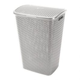 Brudownik / Kosz na pranie i bieliznę plastikowy CURVER MY STYLE SZARY 55 l