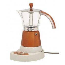 Kawiarka elektryczna aluminiowa ciśnieniowa GAT VITAGE BRONZE - kafetiera na 6 filiżanek espresso