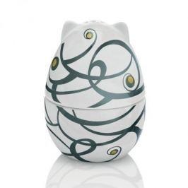 Kieliszek na jajko porcelanowy z solniczką RITZENHOFF BEAUREGA BIAŁY