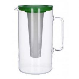 Dzbanek szklany z wkładem chłodzącym SIMAX GREEN MIX KOLORÓW 2,5 l