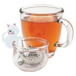 Zaparzacz do herbaty stalowy MSC INTERNATIONAL KOT BIAŁY