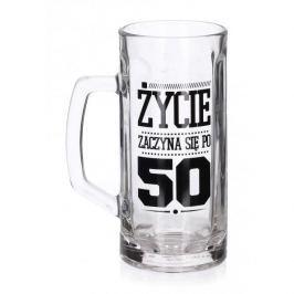 Kufel do piwa szklany FUN 50 - TE URODZINY 600 ml