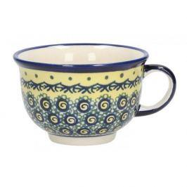 Filiżanka do kawy i herbaty ceramiczna GU-775 DEK. DU1 Bolesławiec ŻÓŁTA 220 ml