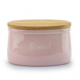 Chlebak ceramiczny z deską do krojenia MONDEX PASTELS RÓŻOWY