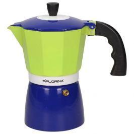 Kawiarka aluminiowa ciśnieniowa FLORINA ZIELONA - kafetiera na 6 filiżanek espresso