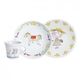 Naczynia dla dzieci porcelanowe KAHLA KSIĘŻNICZKA BIAŁE 3 szt.