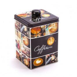 Puszka na kawę metalowa COFFEE KWADRATOWA CZARNA 1,5 l