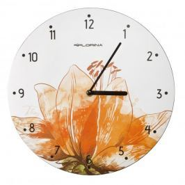 Zegar ścienny plastikowy FLORINA FLORIS BIAŁY 31 cm