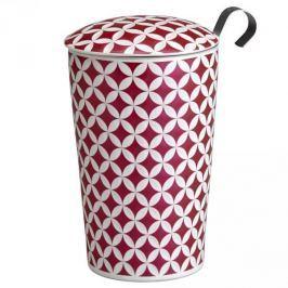Kubek porcelanowy z zaparzaczem i pokrywką EIGENART KONICZYNA RÓŻOWY 350 ml