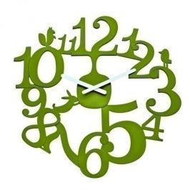 Zegar ścienny plastikowy KOZIOL PI ZIELONY 45 cm