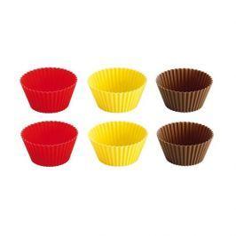 Foremki do pieczenia muffinek i babeczek silikonowe duże TESCOMA DELICIA WIELOKOLOROWE 6 szt.