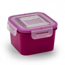 Pojemnik na żywność plastikowy BRANQ QLOCK SQUARE FIOLETOWY 1,1 l