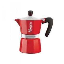 Kawiarka aluminiowa ciśnieniowa BIALETTI AETERNUM ALLEGRA CZERWONA - kafetiera na 6 filiżanek espresso