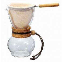 Zaparzacz do kawy szklany HARIO DRIP POT OLIVE WOOD 0,5 l