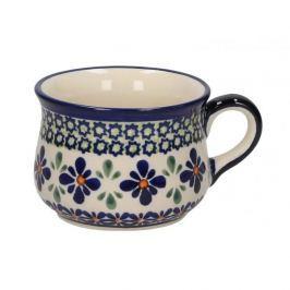 Filiżanka do kawy i herbaty ceramiczna GU-1595 DEK. DU60 Bolesławiec KREMOWA 220 ml