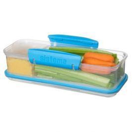 Pojemnik plastikowy na żywność SISTEMA LUNCH BOX SNACK ATTACK MIX KOLORÓW 0,4 l