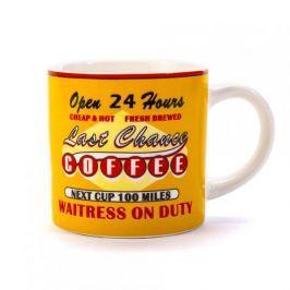 Kubek ceramiczny boss z napisem DUO ALL COOL COFFEE YELLOW 400 ml