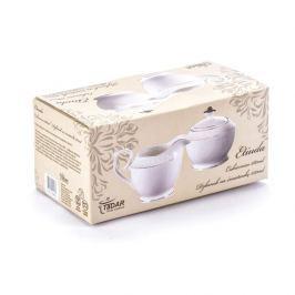 Cukiernica i mlecznik porcelanowe ETIUDA BIAŁE 280 ml