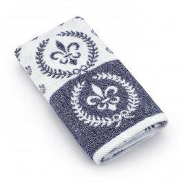 Ręcznik łazienkowy bawełniany MISS LUCY CHILAC NIEBIESKI 50 x 90 cm