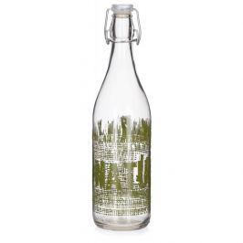 Butelka szklana z korkiem LELLA NATURAL VERDE 1 l