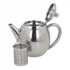 Dzbanek do herbaty stalowy z zaparzaczem GRUNWERG RONDEO 1,2 l