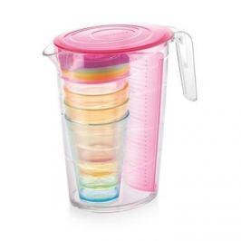 Dzbanek do napojów z wkładem na owoce i kubkami plastikowy TESCOMA MY DRINK RÓŻOWY 2,5 l