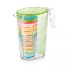 Dzbanek do napojów z wkładem na owoce i kubkami plastikowy TESCOMA MY DRINK ZIELONY 2,5 l