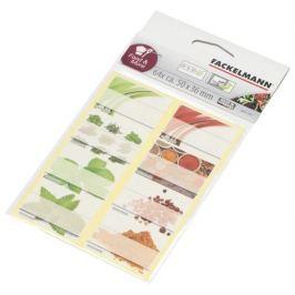 Etykiety papierowe na przyprawy i zioła FACKELMANN MIX KOLORÓW 64 szt.