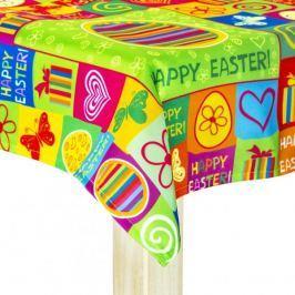 Obrus na stół wielkanocny poliestrowy MILANO HAPPY EASTER WIELOKOLOROWY 85 x 85 cm