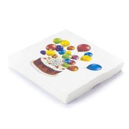 Serwetki papierowe dekoracyjne SWEET CAKE BIAŁE 20 szt.