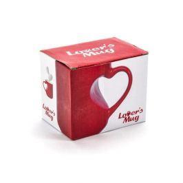 Kubek ceramiczny LOVERS MUG CZERWONY 350 ml