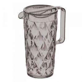 Dzbanek do napojów plastikowy KOZIOL CRYSTAL SZARY 1,6 l