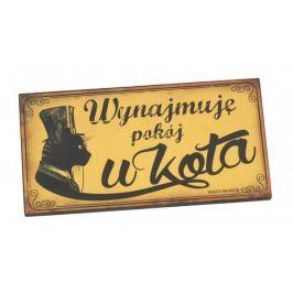 Tabliczka z napisem dekoracyjna drewniana PAN DRAGON VIP WYNAJMUJE