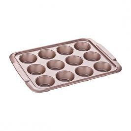 Forma do pieczenia 12 muffinek i babeczek metalowa TESCOMA DELICIA GOLD BRĄZOWA