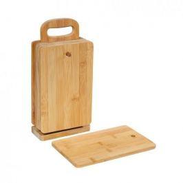 Deski do krojenia bambusowe na stojaku ZASSENHAUS ECO LINE 22 x 18 cm 6 szt.