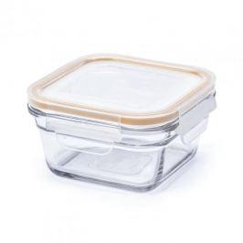 Pojemnik hermetyczny na żywność szklany GLASSLOCK OVEN SAFE KWADRATOWY ZÓŁTY 0,4  l
