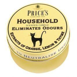 Świeca zapachowa woskowa w puszce neutralizująca przykre zapachy PRICE'S CANDLES HOUSEHOLD ŻÓŁTA