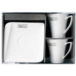 Serwis kawowy porcelanowy HOME DELUX QUATRE BIAŁY dla 2 osób ( 4 el.)