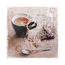 Obraz na płótnie MONDEX COFFEE FRESH & TASTY BRĄZOWY 28 x 28 cm