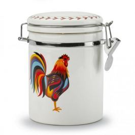 Pojemnik ceramiczny na żywność DUMNY KOGUCIK BIAŁY 0,7 l
